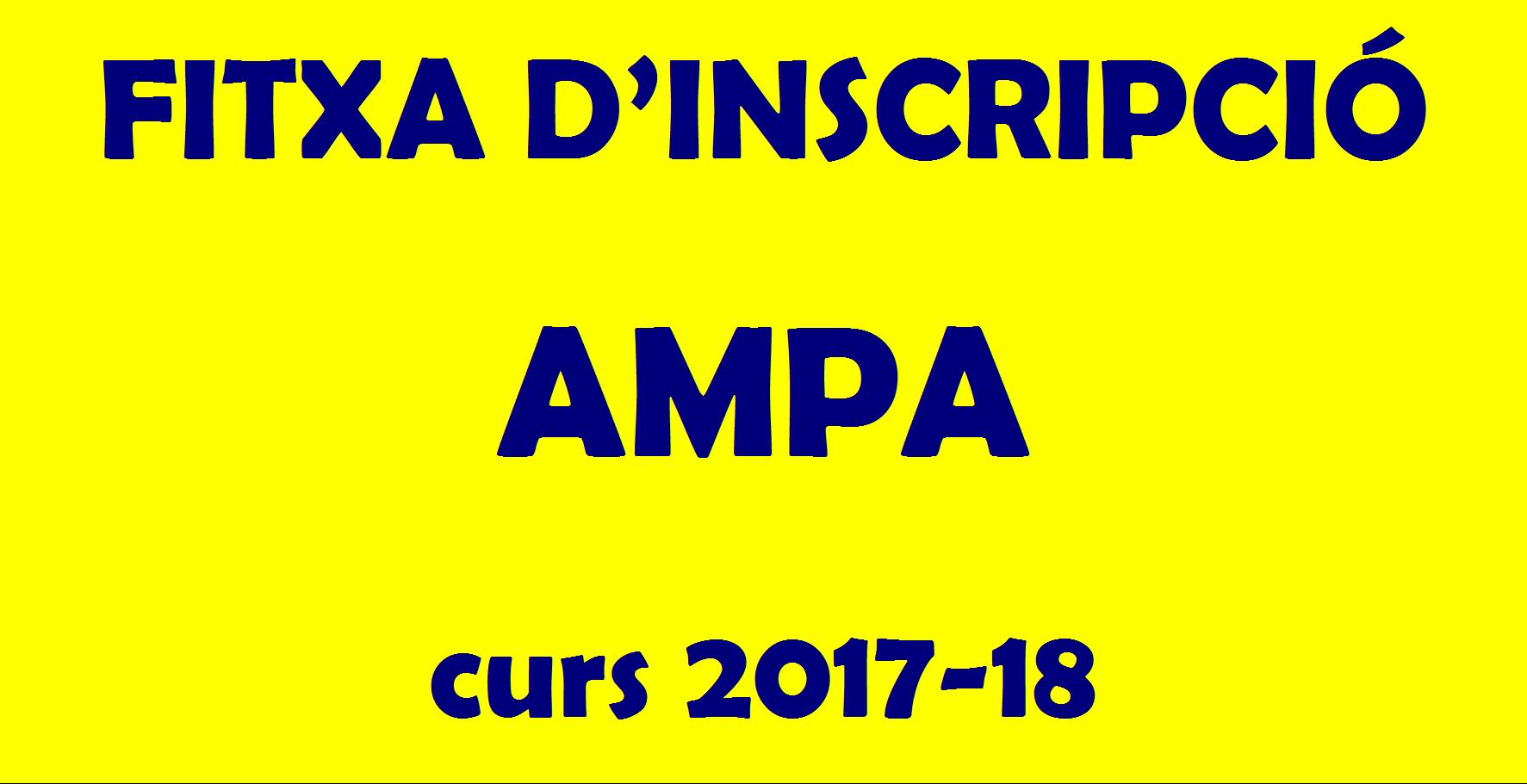 Fitxa d'inscripció AMPA